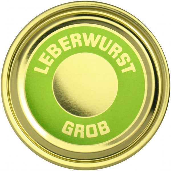 Falzdeckel ø 99 mm Leberwurst grob