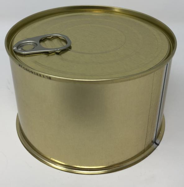 Aufreiß-Falzdeckeldose weiß/gold ø 99/63 mm, 100 Stück