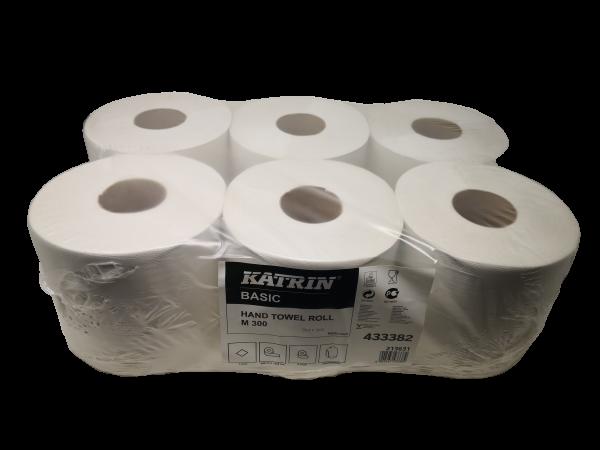 Papierhandtuchrollen, 6 Rollen