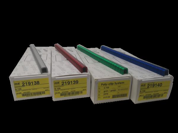 Poly Clip S 735, 2970 Stück, verschiedene Farben