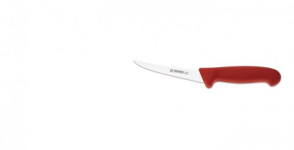 Giesser Ausbeinmesser 2505-13 halbflexibel, gebogen, roter Griff