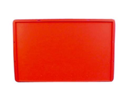 Deckel für Euro-Kasten rot E1, E2, E3, 600 x 400 mm