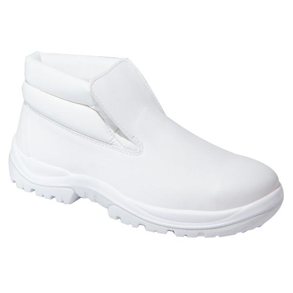 Slipper S2 Vienne, Schuh mit Stahlkappe, hoch, weiß, verschiedene Größen