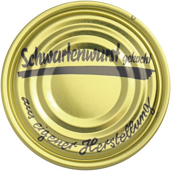 Falzdeckel ø 99 mm Schwartenwurst